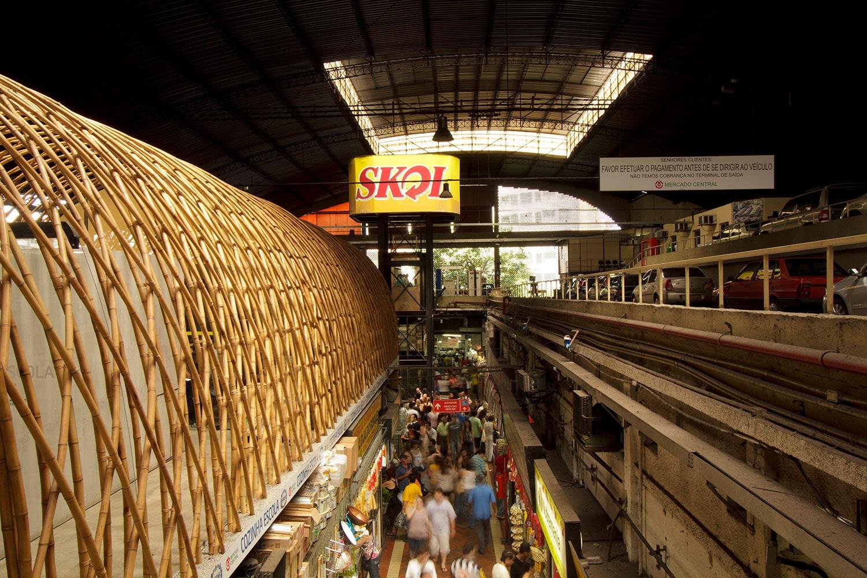 Cozinha Escola Nestlé, projeto do escritório de arquitetura Rosenbaum e localizada no Mercado Municipal de Belo Horizonte. Foto: Gabriel Cabral