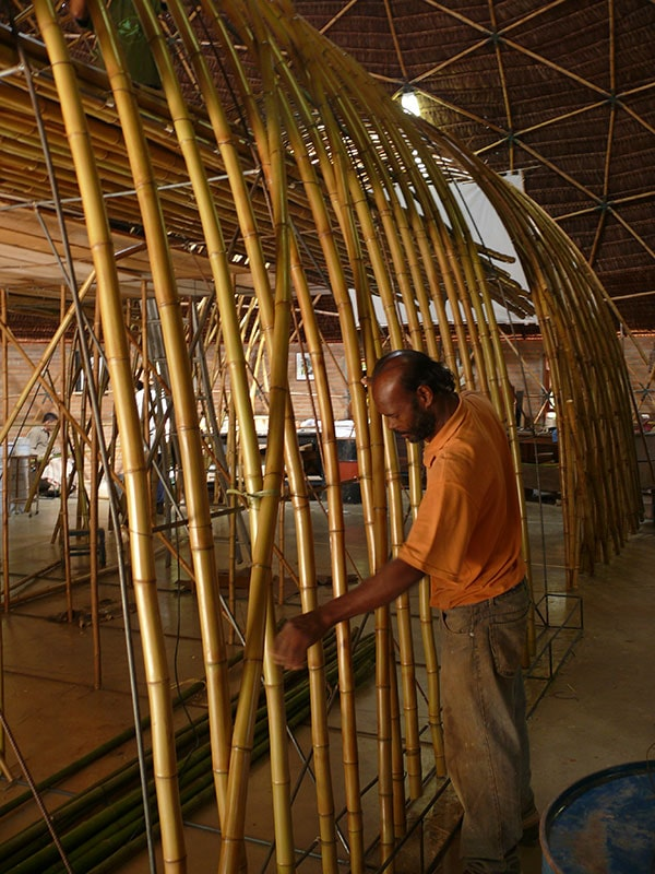 Construção da Cozinha Escola Nestlé, projeto do escritório de arquitetura Rosenbaum. Foto: Divulgação Rosenbaum