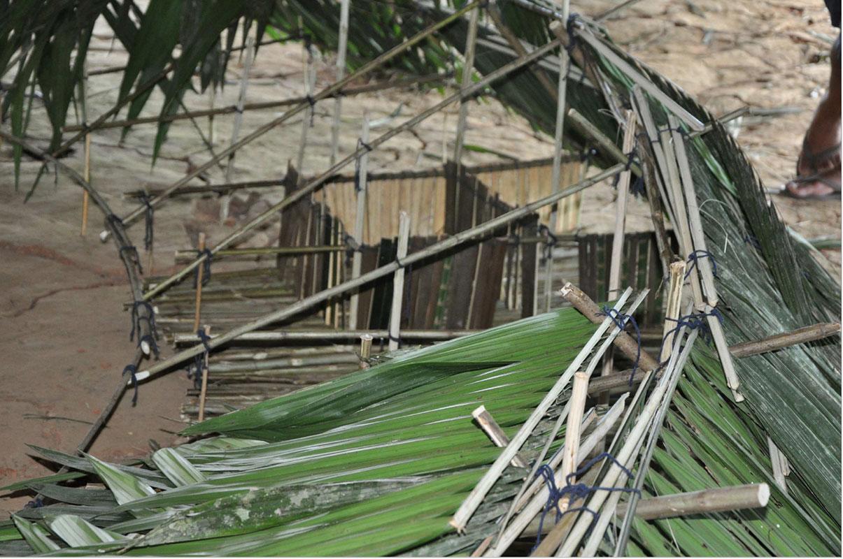 Maquete de projeto de habitação em aldeia Yawanawá, do escritório de arquitetura Rosenbaum