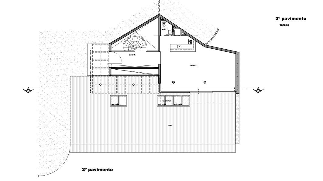 Casa em Campos do Jordão, projeto do escritório de arquitetura Rosenbaum - Planta 3 de 4