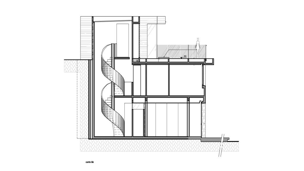 Casa em Campos do Jordão, projeto do escritório de arquitetura Rosenbaum - Planta 4 de 4
